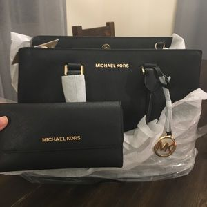 NWT Michael Kors Satchel & Wallet